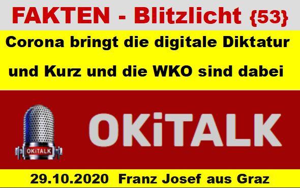 Corona bringt ueber den GREAT RESET die digitale Diktatur und Kurz und die WKO sind dabei