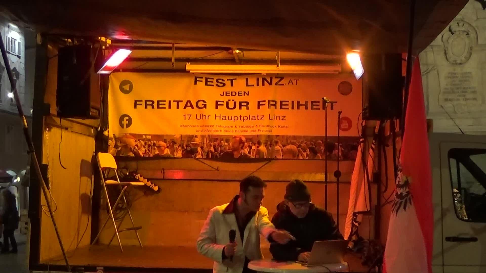 18.12.2020 - ICH BIN FREI - Linz - Elvis Is Alive - beim Fest für die Freiheit