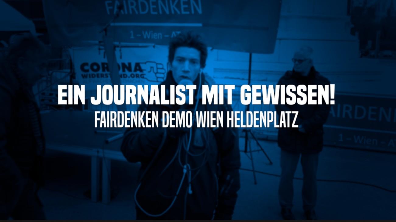 EIN JOURNALIST MIT GEWISSEN #02 - Fairdenken Demo Wien, Heldenplatz, 3.1.2021