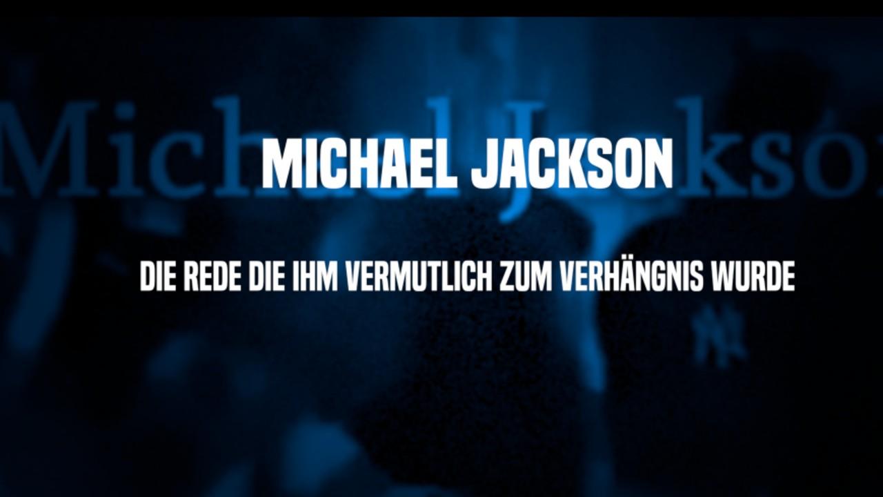 MICHAEL JACKSON - Die Rede die ihm vermutlich zum Verhängnis wurde!