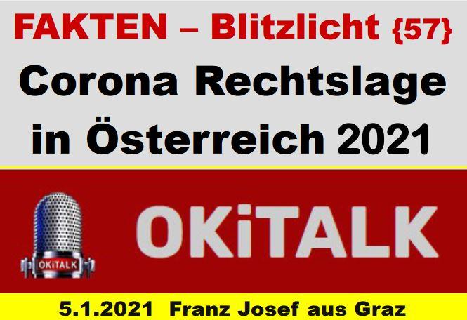 Corona Rechtslage in Österreich 2021