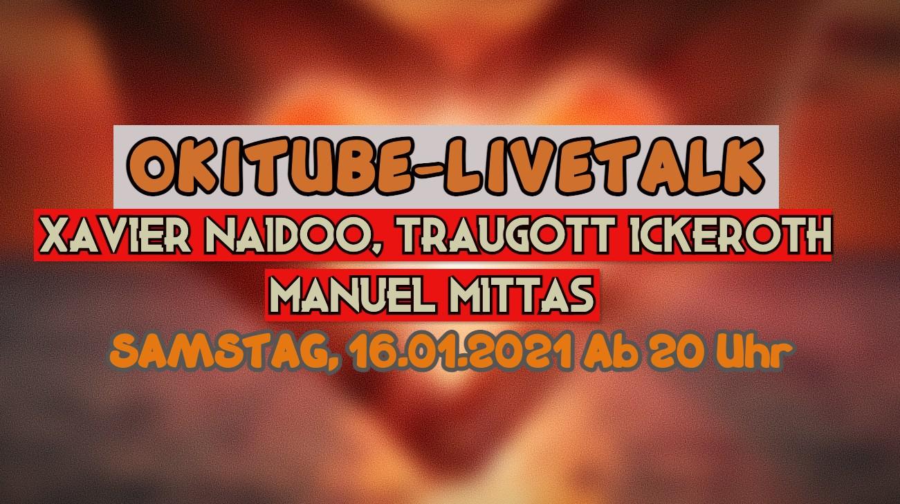Xavier Naidoo zu Gast auf Okitube!! Der Weg ins Licht – Am 16.01.2021 – Ab 20 Uhr – LIVE!!!