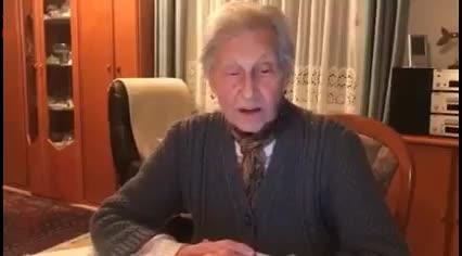 Netzfund: Eine 91-Jährige ruft zum Widerstand gegen den wiederkehrenden Faschismus auf.