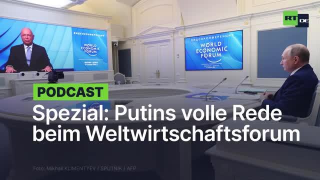 Putins Rede beim WEF Treffen