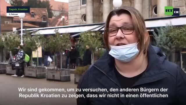Kroatische Unternehmer -  Protest