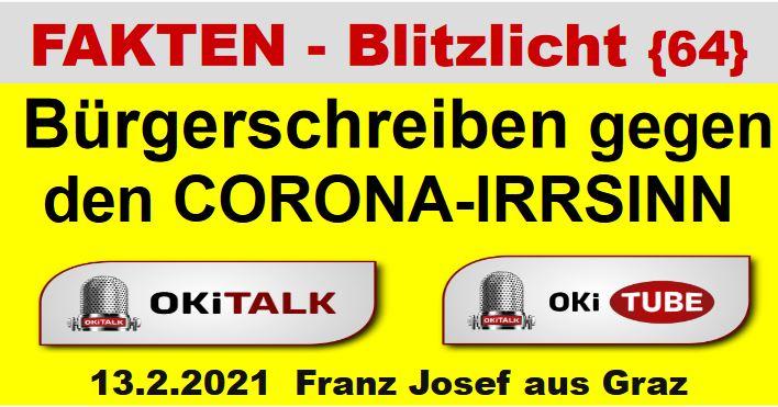 Bürgerschreiben gegen  den CORONA-IRRSINN