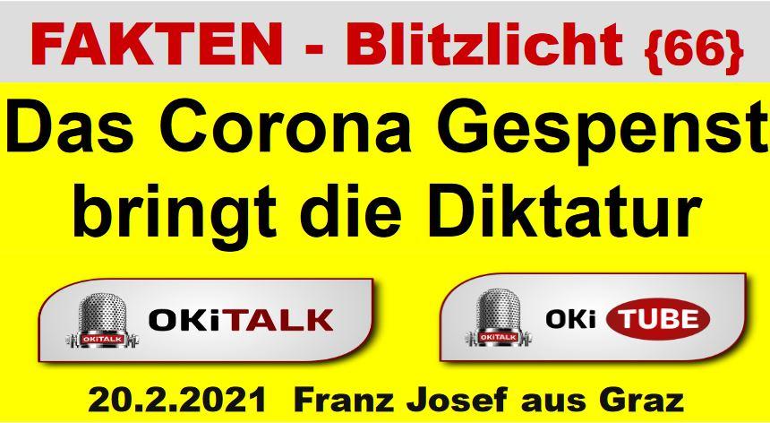Das Corona Gespenst bringt die Diktatur