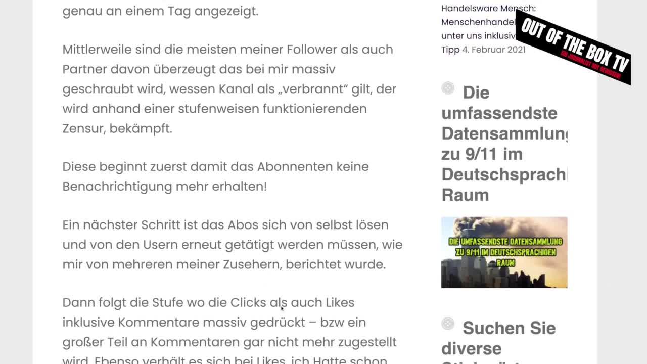 Das Wort zum Tage #19: Die Staatliche Zensur schlägt um sich!