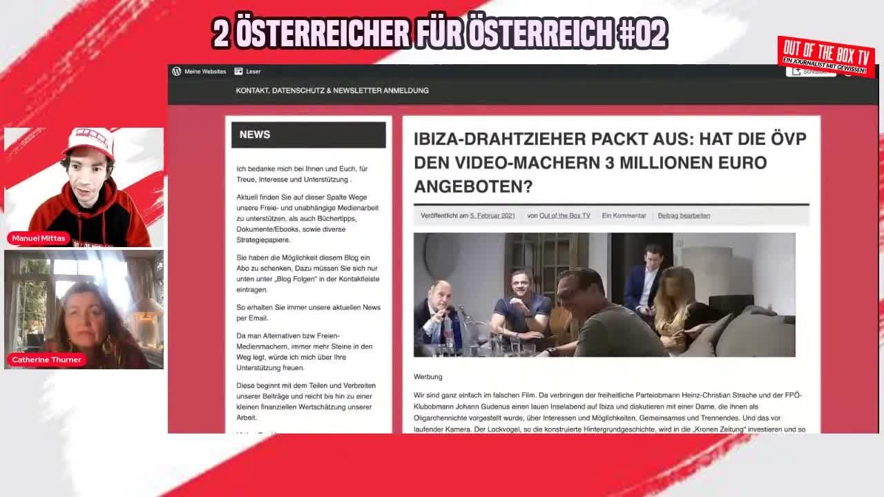 2 ÖSTERREICHER FÜR ÖSTERREICH #02 ++ mit Catherine Thurner & Manuel Mittas