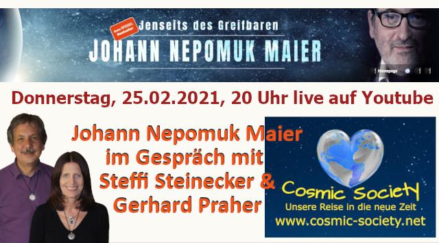 Johann Nepomuk Maier im Gespräch mit Steffi Steinecker Gerhard Praher